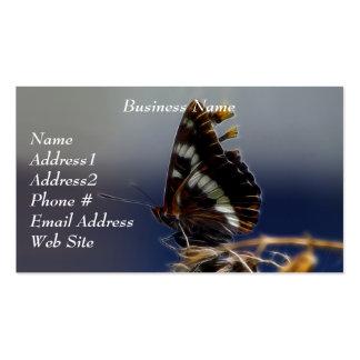 Tarjetas de visita de la mariposa