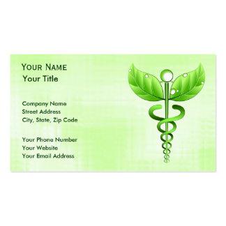 Tarjetas de visita de la medicina alternativa del