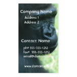 Tarjetas de visita de la mirada del gorila