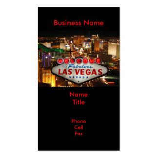 Tarjetas de visita de la muestra de Las Vegas