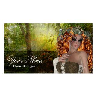 Tarjetas de visita de la mujer del Redhead de la