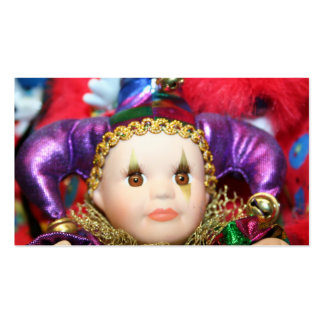 Tarjetas de visita de la muñeca del carnaval
