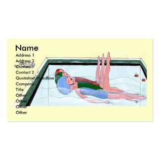 Tarjetas de visita de la natación sincronizada
