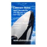 Tarjetas de visita de la orca