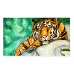 Tarjetas de visita de la paciencia (tigre)