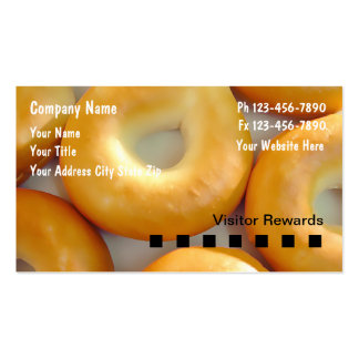 Tarjetas de visita de la panadería