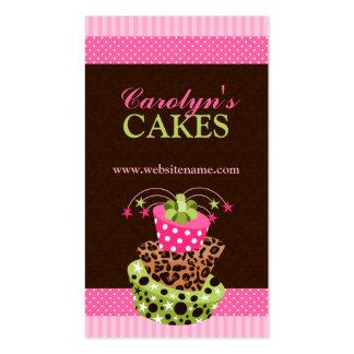 Tarjetas de visita de la panadería de la torta y d