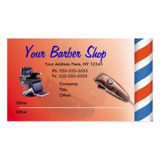 Tarjetas de visita de la peluquería de caballeros