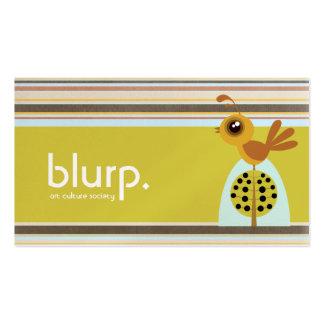 Tarjetas de visita de la perdiz de Blurp