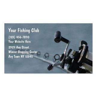 Tarjetas de visita de la pesca