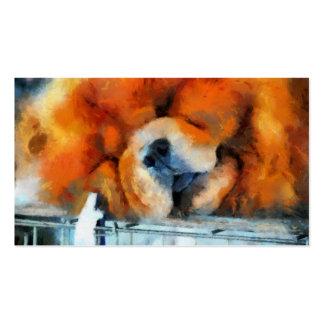 Tarjetas de visita de la pintura del perro chino d