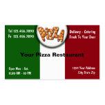Tarjetas de visita de la pizza