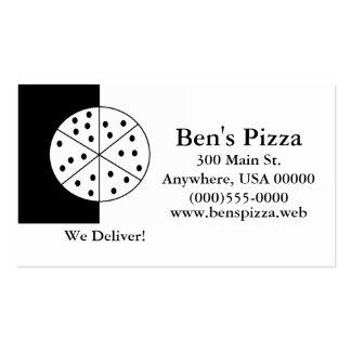 """Tarjetas de visita de la """"pizza"""""""