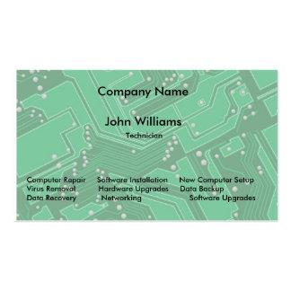 Tarjetas de visita de la placa de circuito