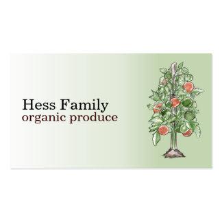 Tarjetas de visita de la planta de tomate