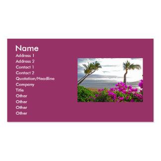 Tarjetas de visita de la playa de Maui