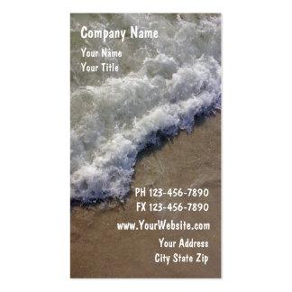 Tarjetas de visita de la playa