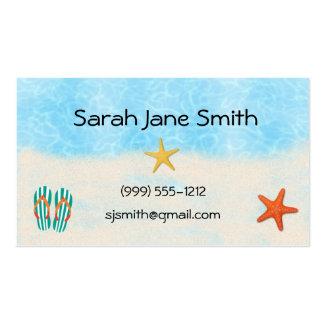 Tarjetas de visita de la playa/tarjetas de visita