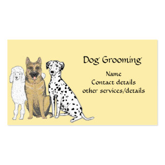 Tarjetas de visita de la preparación del perro