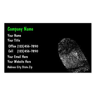 Tarjetas de visita de la protección de la identida