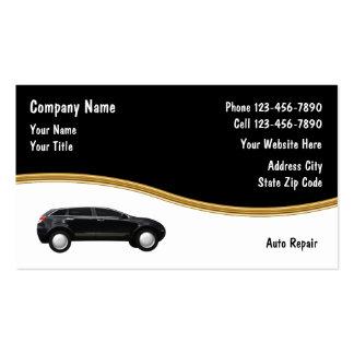 Tarjetas de visita de la reparación auto