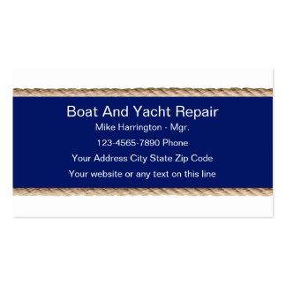 Tarjetas de visita de la reparación del barco y
