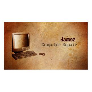 Tarjetas de visita de la reparación del ordenador