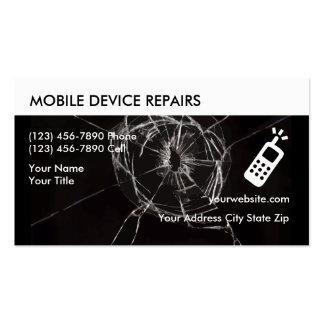 Tarjetas de visita de la reparación del teléfono