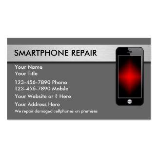 Tarjetas de visita de la reparación del teléfono m
