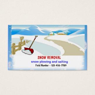 Tarjetas de visita de la retirada de la nieve