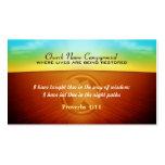 tarjetas de visita de la salida del sol con el log