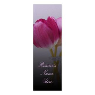 Tarjetas de visita de la señal de los tulipanes de