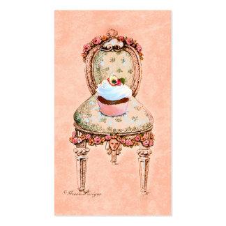 Tarjetas de visita de la silla de la magdalena y d