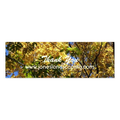 Tarjetas de visita de la silvicultura