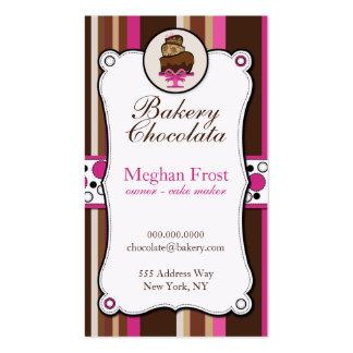 Tarjetas de visita de la sobrecarga del chocolate