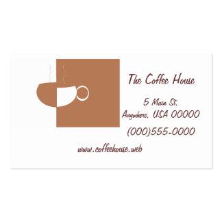 """Tarjetas de visita de la taza de café"""