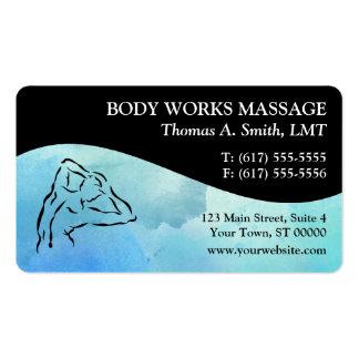 Tarjetas de visita de la terapia del masaje de la