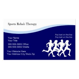 Tarjetas de visita de la terapia física de los dep