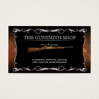 Tarjetas de visita de la tienda de armas del