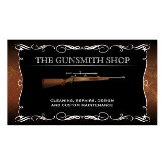 Tarjetas de visita de la tienda de armas del escop