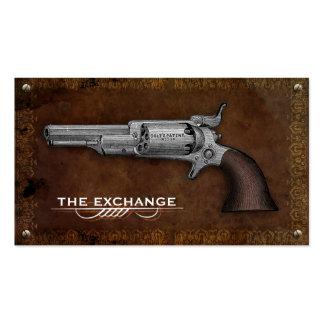 Tarjetas de visita de la tienda de armas del revól