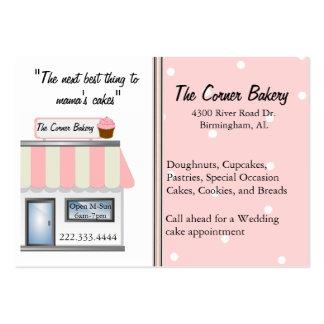 Tarjetas de visita de la tienda de la panadería