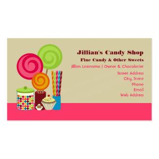 Tarjetas de visita de la tienda del caramelo