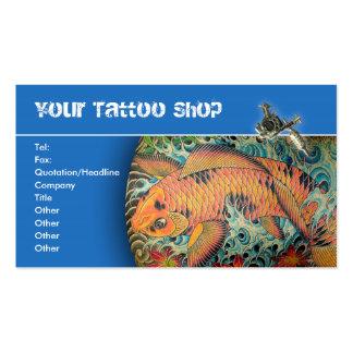 Tarjetas de visita de la tienda del tatuaje