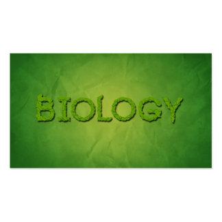 Tarjetas de visita de la tipografía del biólogo de