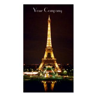 Tarjetas de visita de la torre Eiffel