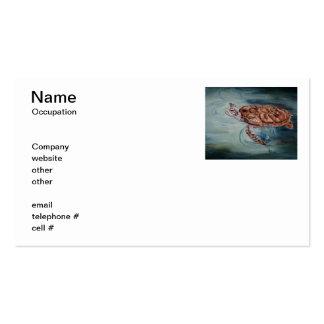 Tarjetas de visita de la tortuga de mar verde