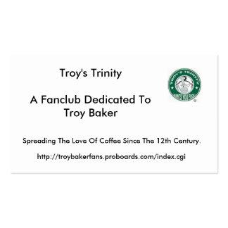 Tarjetas de visita de la trinidad de Troy
