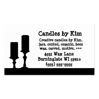Tarjetas de visita de la vela