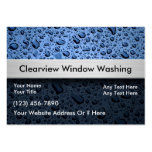 Tarjetas de visita de la ventana que se lavan